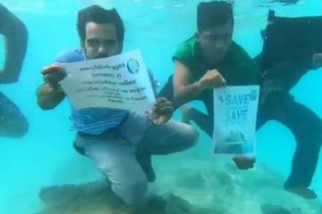 Lakshadweep Under water Protest